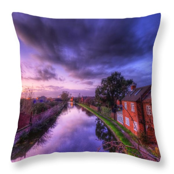 Sunset At Loughborough Throw Pillow by Yhun Suarez