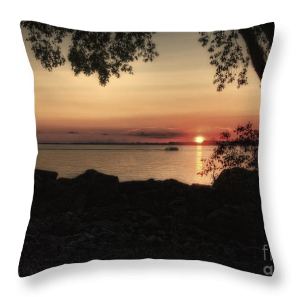 Sunset Cruise Throw Pillow by Pamela Baker