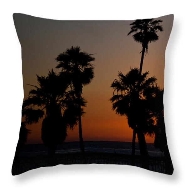 sunset in Califiornia Throw Pillow by Ralf Kaiser