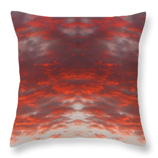Sunset Panorama Psychedelic Trance Throw Pillow by James BO  Insogna