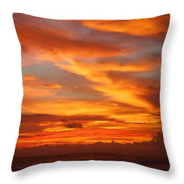 Sunset Playa Hermosa Costa Rica Throw Pillow by Michelle Wiarda