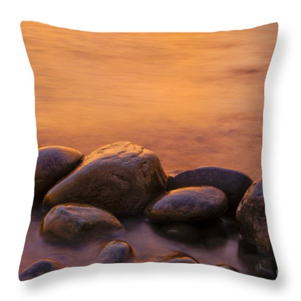 Sunset Throw Pillow by Silke Magino