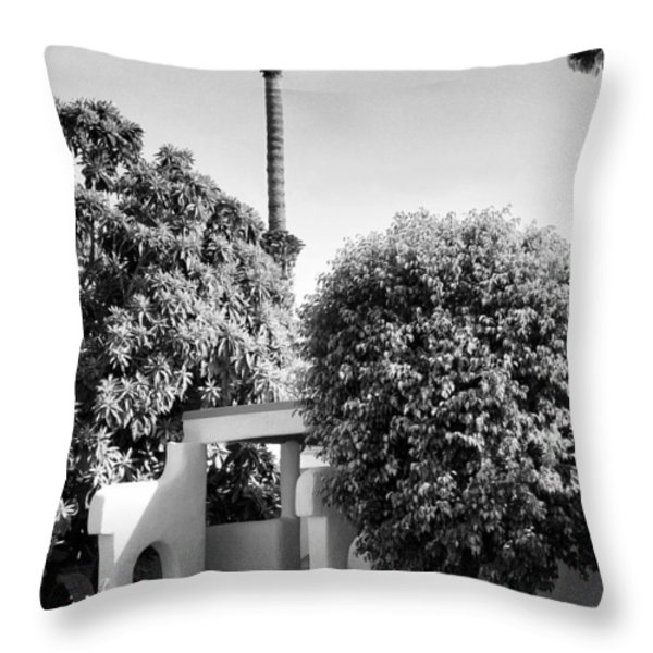Suntan Lane Palm Springs Throw Pillow by William Dey