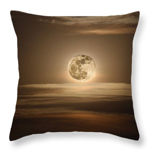 Super Moon Of 2012 Throw Pillow by Elizabeth Hart