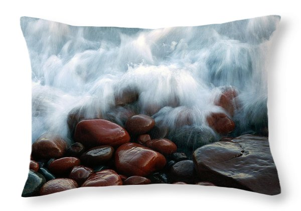 Superior On The Rocks Throw Pillow by Bill Morgenstern