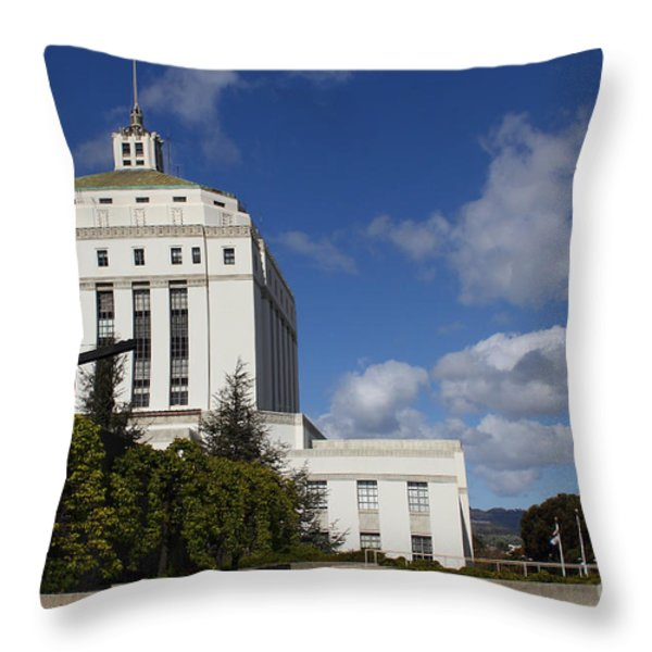 Supreme Court of California . County of Alameda . Oakland California View From Oakland Museum . 7D13 Throw Pillow by Wingsdomain Art and Photography