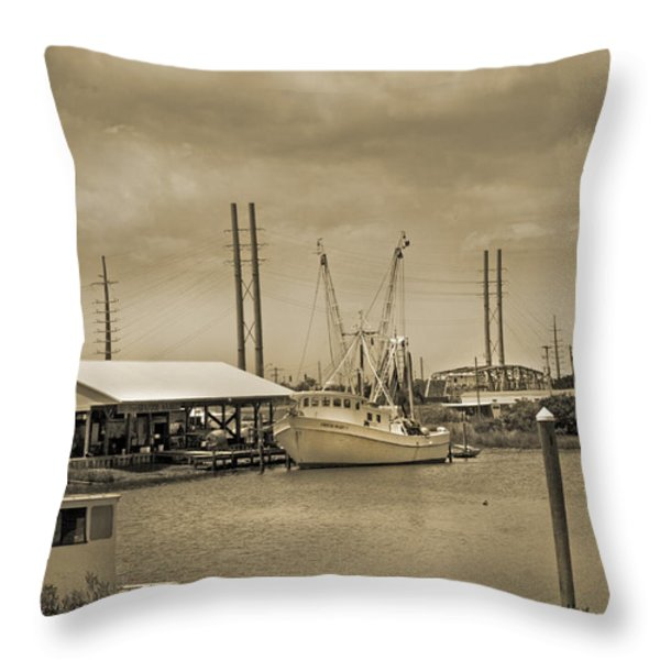 Surf City North Carolina Throw Pillow by Betsy A  Cutler