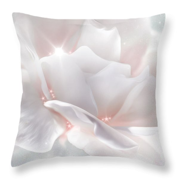 Surprise Rose Throw Pillow by Svetlana Sewell
