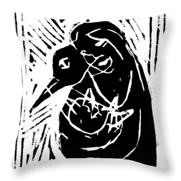Swan and Human Mothers Throw Pillow by Anon Artist