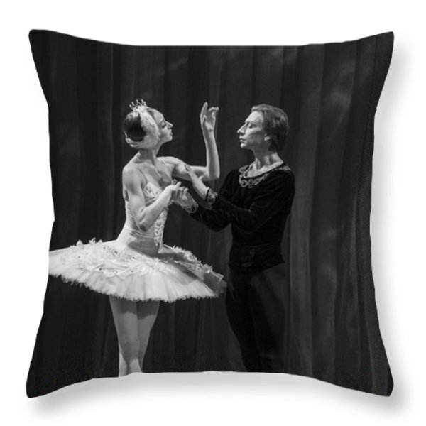 Swan Lake  White Adagio  Russia Throw Pillow by Clare Bambers