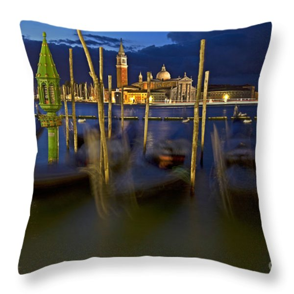Swaying Gondolas Throw Pillow by Heiko Koehrer-Wagner