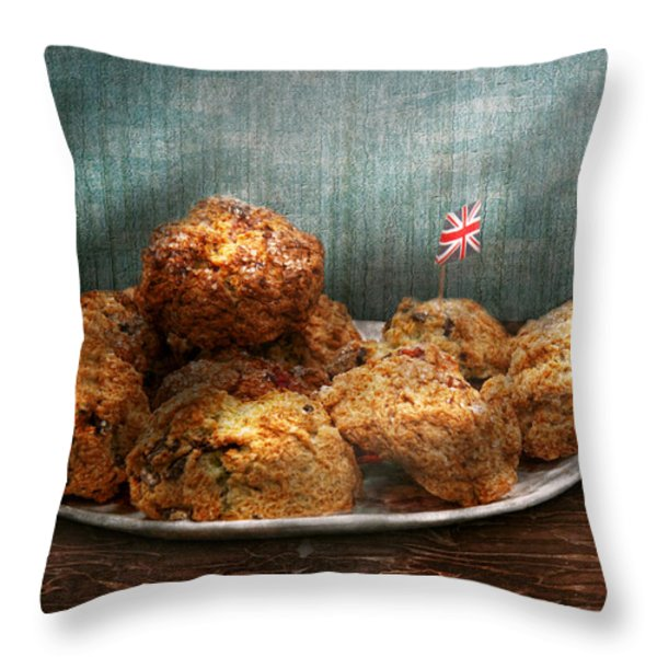 Sweet - Scone - Scones anyone Throw Pillow by Mike Savad