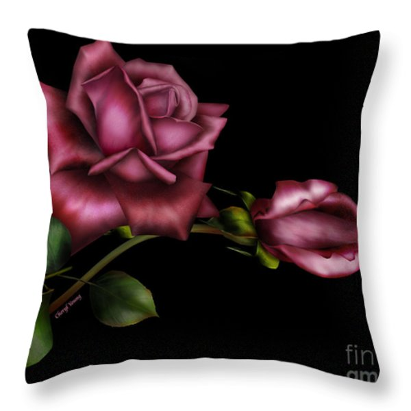 Sweet Perfection Throw Pillow by Cheryl Young