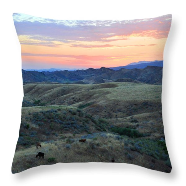 Sweet So Cal Sunset Throw Pillow by Lynn Bauer