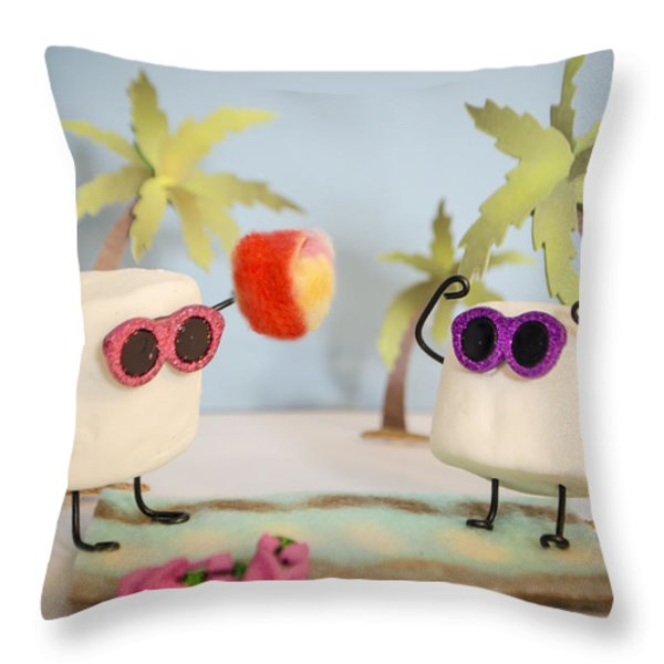 Sweet Vacation Throw Pillow by Heather Applegate