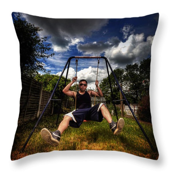 Swinger Throw Pillow by Yhun Suarez