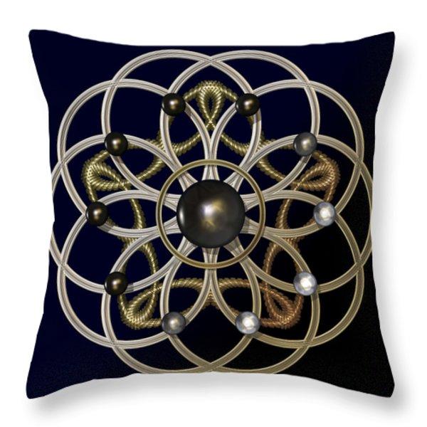 Swirly Brooch Throw Pillow by Hakon Soreide