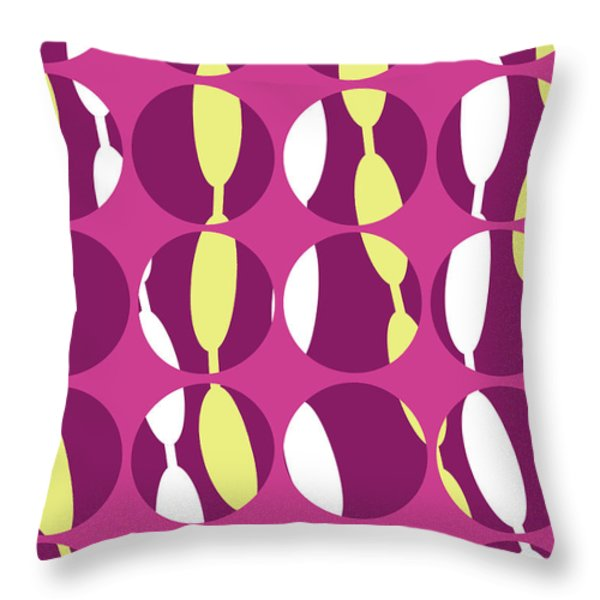 Swirly Stripe Throw Pillow by Louisa Knight