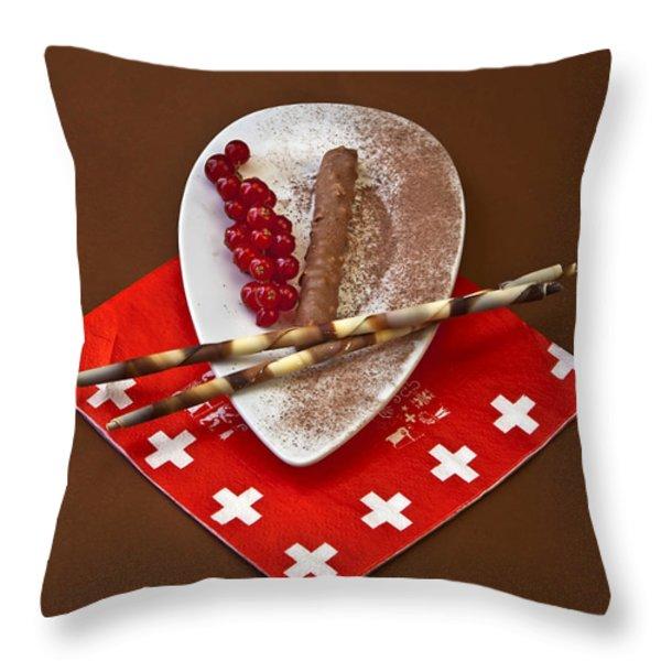 Swiss chocolate praline Throw Pillow by Joana Kruse