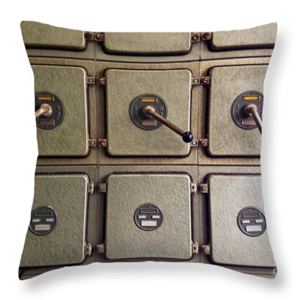 switch panel Throw Pillow by Carlos Caetano