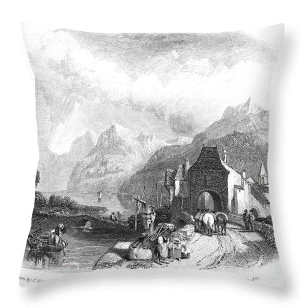 Switzerland: Villeneuve Throw Pillow by Granger