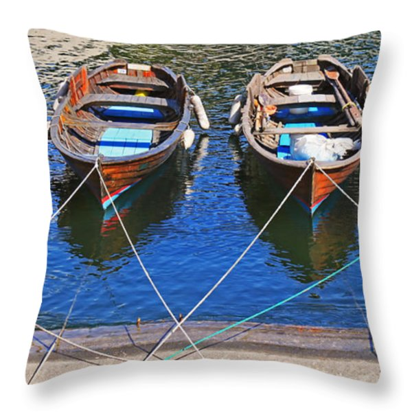 Symmetry Throw Pillow by Joana Kruse