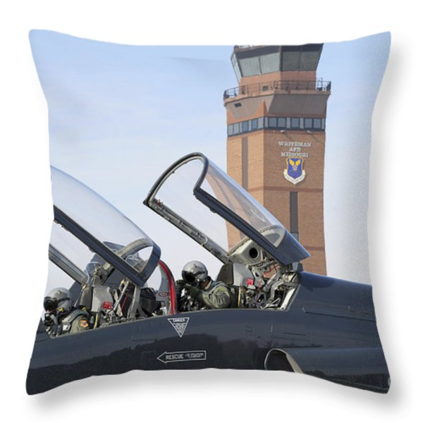 T-38 Talon Pilots Make Their Final Throw Pillow by Stocktrek Images