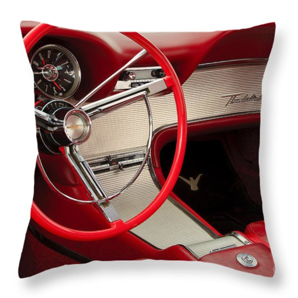 T-Bird Interior Throw Pillow by Dennis Hedberg