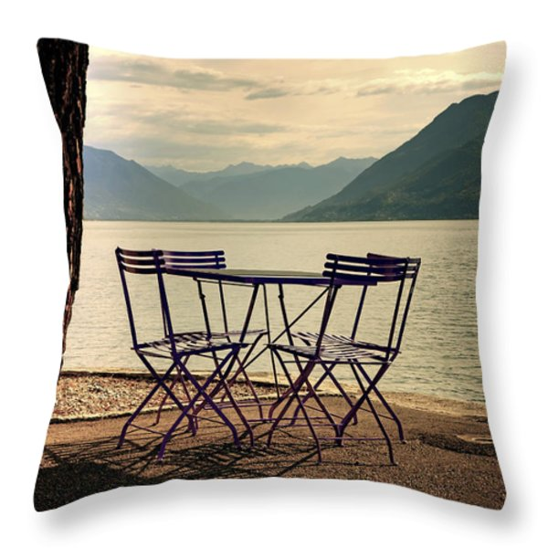 table and chairs Throw Pillow by Joana Kruse
