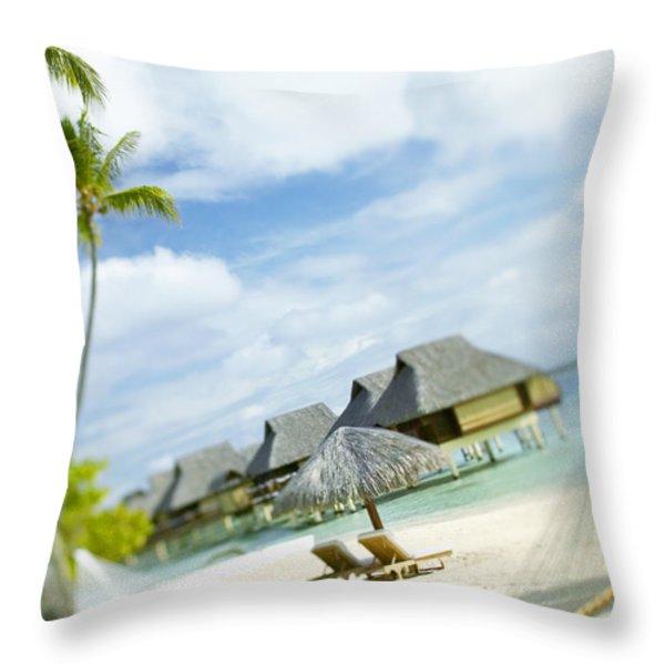 Tahiti, Bora Bora Throw Pillow by Kyle Rothenborg - Printscapes