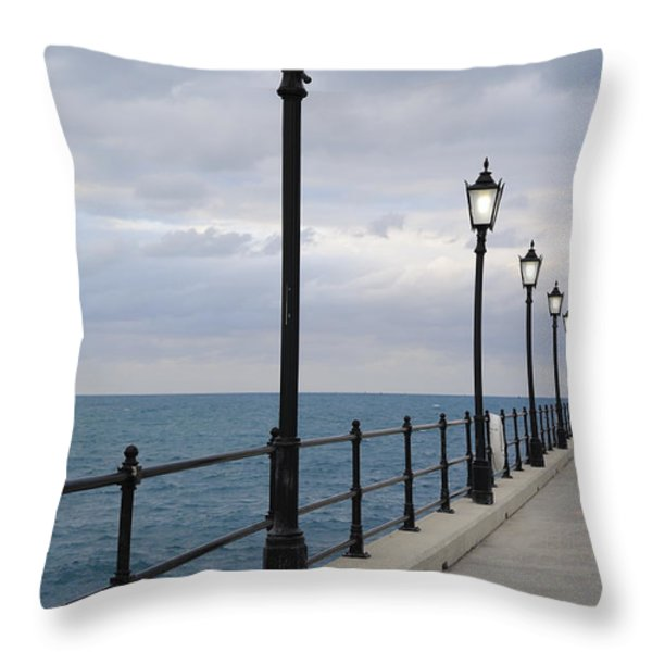 Take A Stroll With Me Throw Pillow by Luke Moore