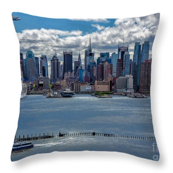 Taking a Free Ride Throw Pillow by Susan Candelario