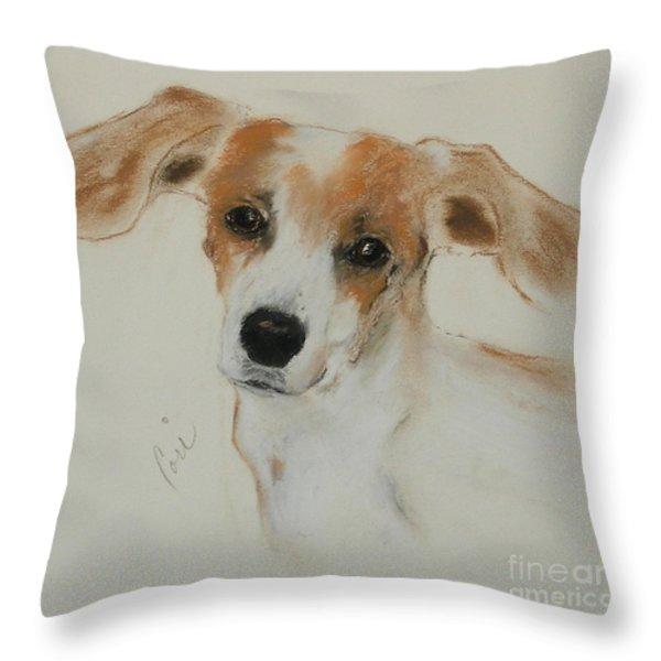 Taking Off Throw Pillow by Cori Solomon
