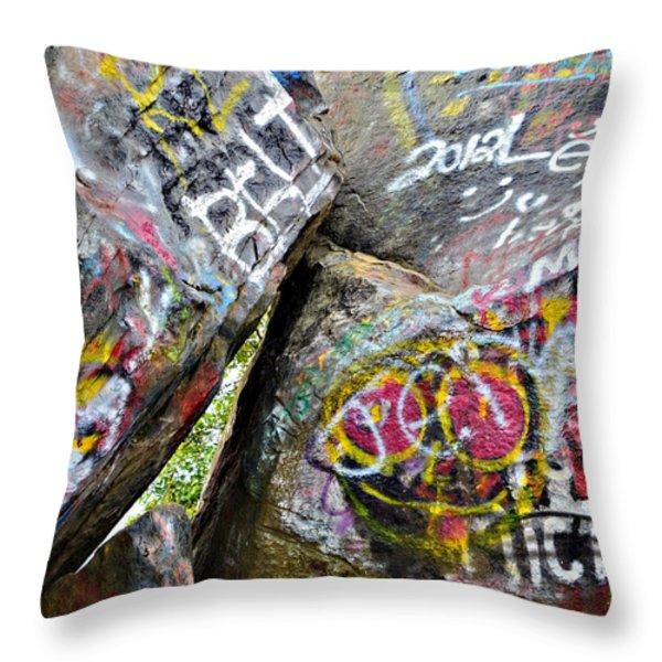 Talking Rocks Close Throw Pillow by Susan Leggett