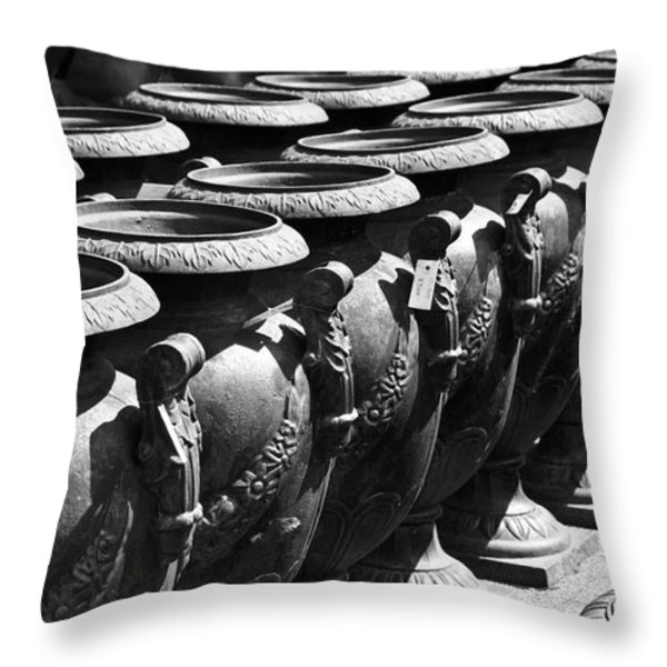 Tall Urns Throw Pillow by Teresa Mucha