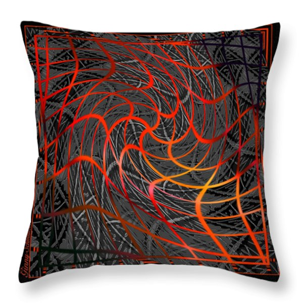 Tangled Web of Lies Throw Pillow by Ginny Schmidt