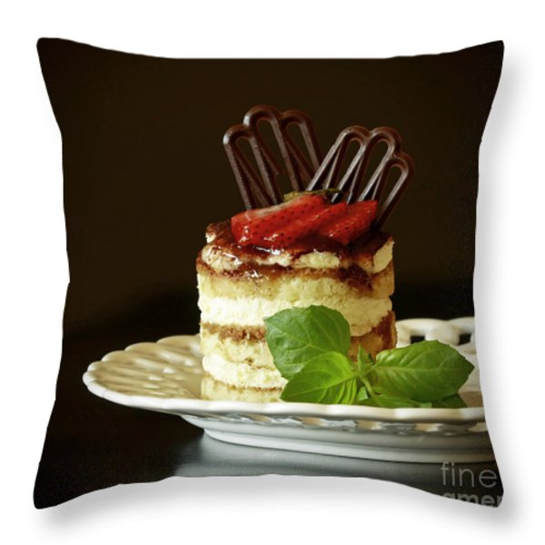 Taste Of Italy Tiramisu Throw Pillow by Inspired Nature Photography By Shelley Myke