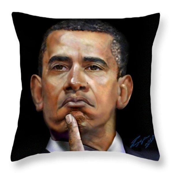 Tea Party-Let em eat cake-1 Throw Pillow by Reggie Duffie