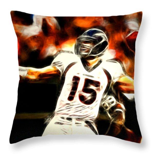 Tebow Throw Pillow by Paul Van Scott