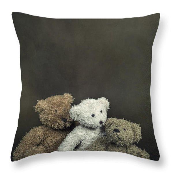 teddy bear family Throw Pillow by Joana Kruse