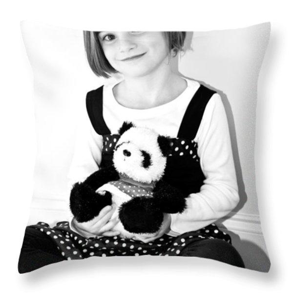 Teddy Bear Throw Pillow by Susan Leggett