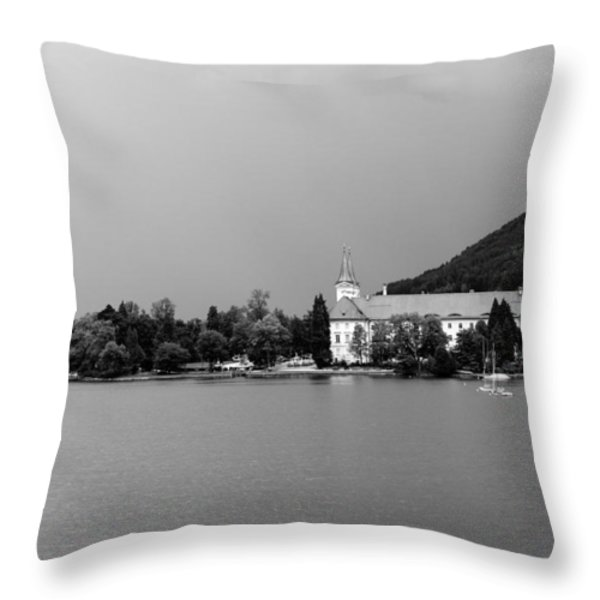 Tegernsee Throw Pillow by Ralf Kaiser
