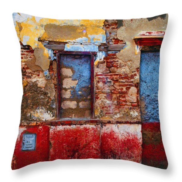 Telecom Throw Pillow by Skip Hunt