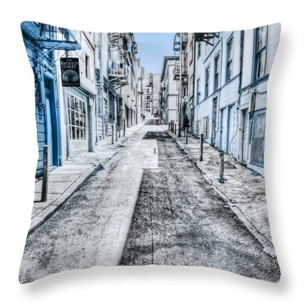 Telegraph Hill Blue Throw Pillow by Scott Norris