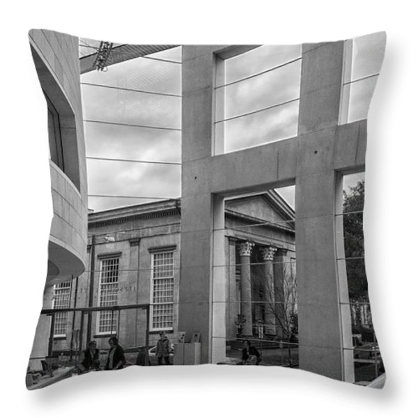 Telfair's Jepson Center Lobby Throw Pillow by Lynn Palmer
