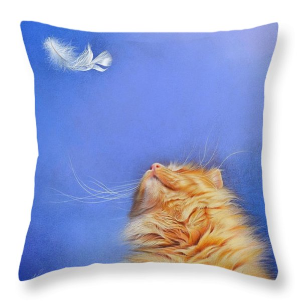 Temptation Throw Pillow by Elena Kolotusha