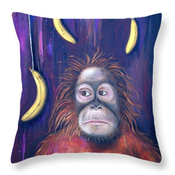 Temptation Throw Pillow by Leah Saulnier The Painting Maniac