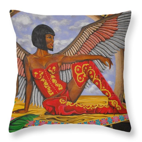 Temptation Throw Pillow by William Roby