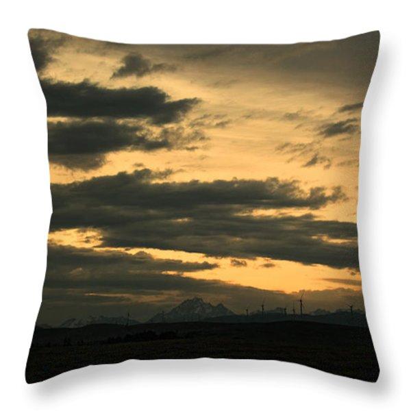 Terminous Throw Pillow by James Heckt
