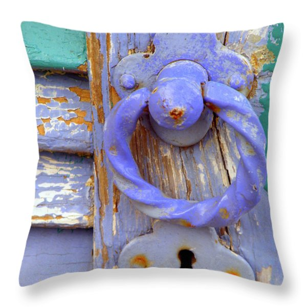 Terrace Door Throw Pillow by Lainie Wrightson